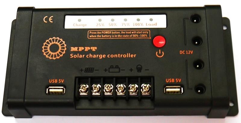 10a 12v 24v Lead Acid Battery Packs Solar Charge Controller