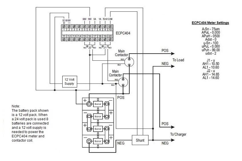 Complete 24 Volt Battery Control System Ecpc404 Meter