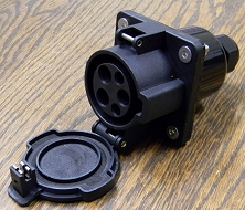 J1772 Socket-Inlet <br> Level 1 and 2 <br> 16A-30A-32A-50A-70A <br> 120V-240V <br> USA Stock!