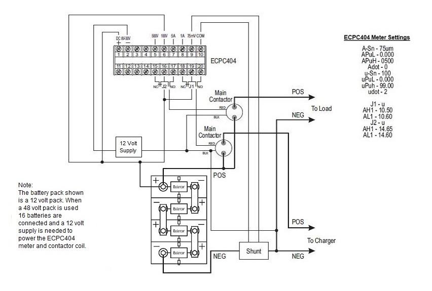 Complete 48 Volt Battery Control System Ecpc404 Meter