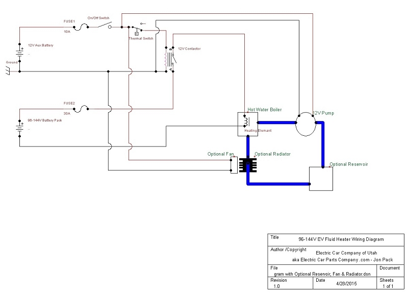 96 144VEVFluidHeaterWiringDiagramwithOptionalReservoirFanRadiator2 190 250 volt 10,500 btu single element inline ev coolant water Trailer Wiring Diagram at gsmportal.co