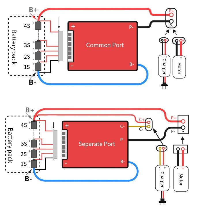 Bms Battery Management System 12v 4s 40a