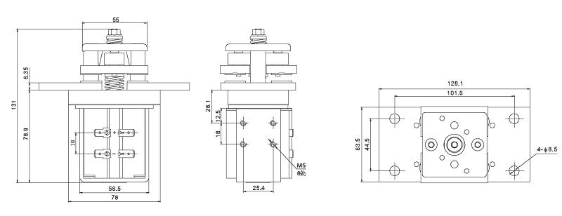 800a 80vdc 250vac 12v  24v  48v  60v dc coil ev contactor set