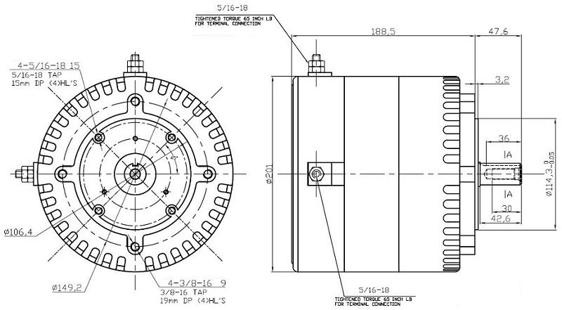 12v 24v 48v 72v 12v 72v 200a Dc M103 Motor