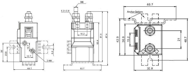 100a 6000w  6kw contactor 12v