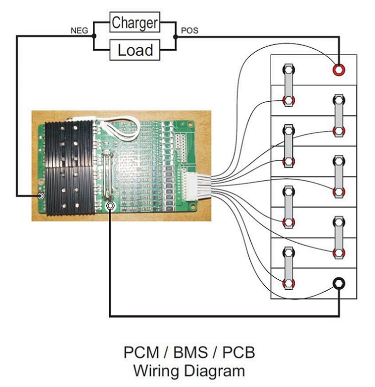 PCM BMS PCBWiringDiagram 12v 12 8v 14 6v pcb pcm 4 cell battery series 4a 300a max current bms wiring diagram at crackthecode.co