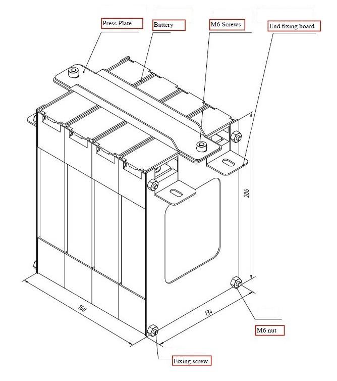 100ah 3 2v 6c aluminum encased lithium battery