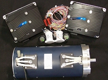 AC-34x2, AC-35x2, AC-3Xx2 Dual Motor Kit <br> 72V-144V 165 HP – 123 kW Peak <br> 188 ft-Lbs – 255 Nm Torque Peak <br> HPEVS EV AC Motor and Controller Kit <br> Curtis 1238E-7621 Controller (72-96V 650A) <br> Curtis 1239E-8521 Controller (96-144V 500A)