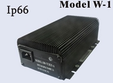 180-240 Watts <br> 12V 15A, 24V 10A <br> Model W-1 <br> Lithium or Lead-Acid Intelligent Battery Charger