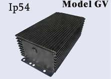 480-720 Watts <br> 24V 20A, 24V 25A, 24V 30A, <br> 36V 18A, 48V 10A, 48V 13A, <br> 48V 15A, 72V 10A <br> Model GV <br> Lithium or Lead-Acid Intelligent Battery Charger