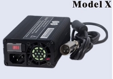 160 Watts <br> 12V 8A, 24V 5A, 36V 4A, 48V 3A <br> Model X <br> Lithium or Lead-Acid Intelligent Battery Charger <br> 100ea MOQ