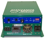 20A or 30A, 12-450V DC <br> Manzanita Micro <br> PFC20X <br> EV DC Lithium Battery Charger <br> 14L * 10.5W * 5.8H in <br> 358 * 264 * 145 mm <br> 16 Lbs. / 7.3 Kg