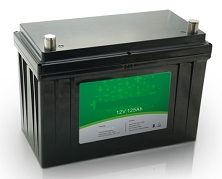 1600 Watts 1.6kW 12V 125Ah <br> EV LiFePO4 Lithium Battery Pack <br> 12.5 * 6.5 * 8.4 in <br> 318 * 165 * 215 mm <br> 35.2 Lbs. / 16 Kg <br> Can be connected in series up to 48 volts.