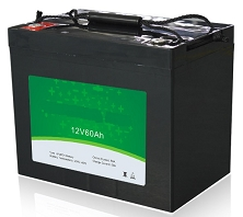 768 Watts 12V 60Ah <br> EV LiFePO4 Lithium Battery Pack <br> 10.2 * 6.6 * 8.4 in <br> 260 * 169 * 215 mm <br> 23.1 Lbs. / 10.5 Kg <br> Can be connected in series up to 48 volts.
