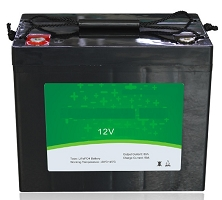 1024 Watts 1kW 12V 80Ah <br> EV LiFePO4 Lithium Battery Pack <br> 12.5 * 6.5 * 8.4 in <br> 318 * 165 * 215 mm <br> 26.0 Lbs. / 11.8 Kg <br> Can be connected in series up to 48 volts.