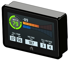 Intelli-gauge Battery, Motor and Controller, and System Monitor <br> 3.2 * 4.6 * 1.5 in. (81 * 117 * 38 mm)