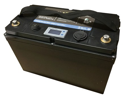 12V 100Ah<br>Lithium-ion Battery<br>26.4 Lbs. (12 Kg)<br>USA Stock