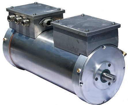 AC-34x2 AC-35x2 AC-3Xx2 EV AC Motor Kit <br> 72-144V, 500-650A, 98 HP - 73kW Peak <br> OC AC 3Xx2-32-26, OC AC 3Xx2-32-28 <br> OC AC 3Xx2-33-26, OC AC 3Xx2-33-28 <br> Oil-Cooled Stainless Steel <br> HPEVS EV AC Motor <br> with Curtis Controller