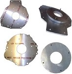 Custom Built <br> EV Transmission <br> Adapter Plates <br> and Spacer Rings <br> Industrial Strength Aluminum