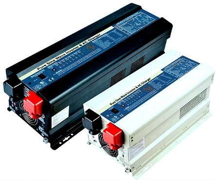 <b> 6000W 6KW </b> <br> Both 24V or 48V DC Input or <br> 95V-127V or 164V-243V AC Inputs <br> 100V to 240V AC 50Hz 60Hz Output <br> Pure Sine Wave <br> DC to AC Power <br> Solar Inverter and Battery Charger <br> Works With Lithium or Lead Acid Batteries