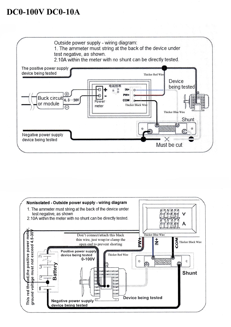 12 Volt Voltmeter Wiring Diagram Need For Combo Dc Ammeter Shunt And Hernes Auto Schematic