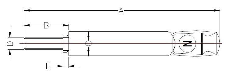 120A 600V Terminal Contacts Dimensions