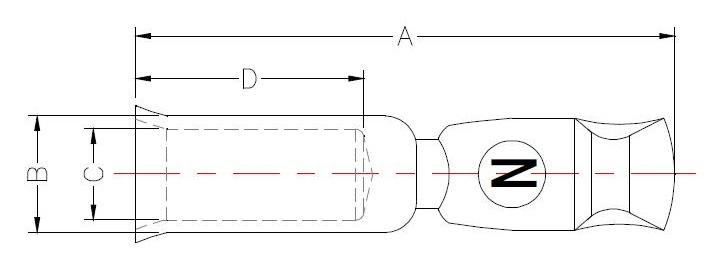 120A 600V Terminal Dimensions