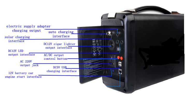 12V 50Ah Polymer Lithium-ion Battery Portable Power System