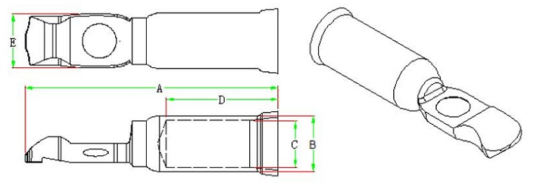 175A 600V Terminal Dimensions