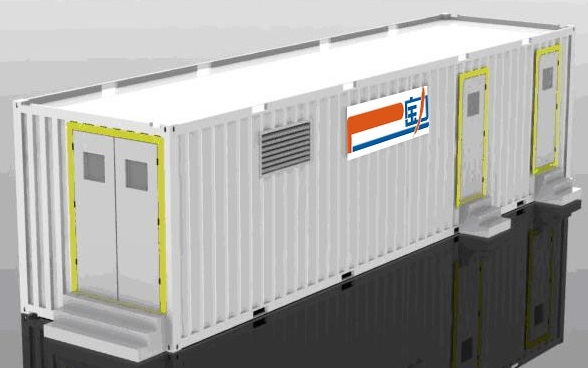 1MWH Energy Storage Banks in 40ft Containers