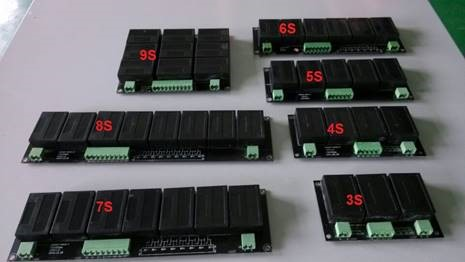 3S 4S 5S 6S 7S 8S and 9S Modules - Specification of Battery Balancer