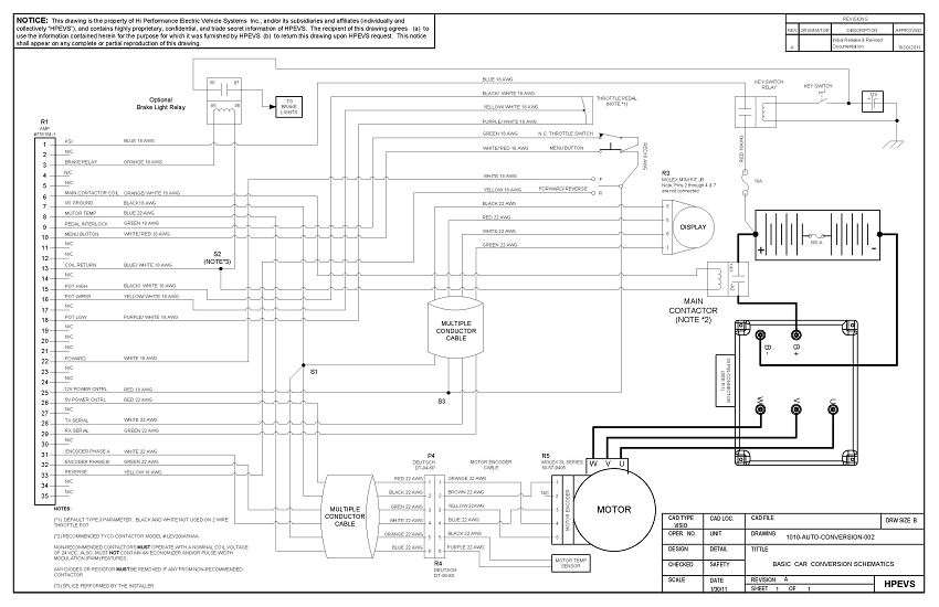 ev conversion schematic rh electriccarpartscompany com ev 664 wiring diagram ev charger wiring diagram