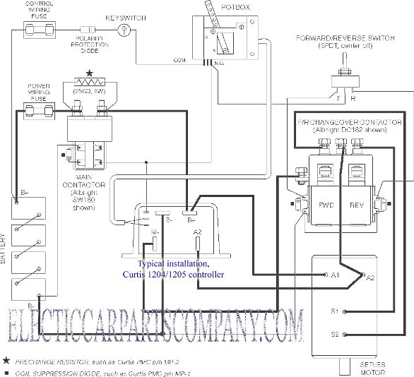 ev conversion schematic rh electriccarpartscompany com  electric vehicles circuit diagram