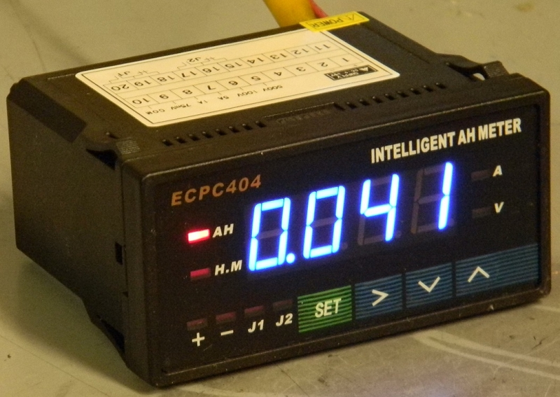 600 Amp Battery Charging System Monitor : Ecpc ammeter intelligent digital ev jld battery pack