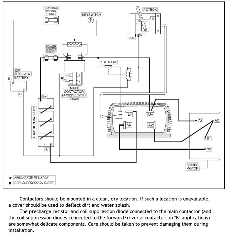 ev conversion schematic rh electriccarpartscompany com curtis speed controller wiring diagram curtis 1510 controller wiring diagram