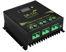 12V, 24V, 36V, or 48V 60A PWM <br> Solar Charge Controller <br> For Flooded, SLA, AGM, Gel, <br> and Lead Acid Battery Packs