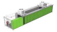 Scalable Energy Storage System ESS with LiFePO4 Batteries in 20 or 40 ft Containers