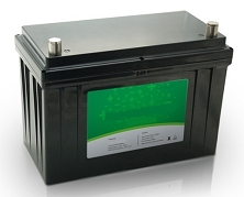 1280 Watts 1.28kW 24V 50Ah <br> EV LiFePO4 Lithium Battery Pack <br> 12.5 * 6.5 * 8.4 in <br> 318 * 165 * 215 mm <br> 27.7 Lbs. / 12.6 Kg <br> Can be connected in series up to 48 volts.