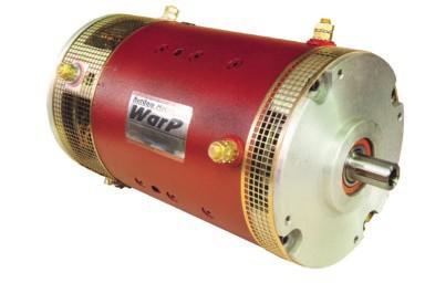 """WarP 9 EV DC Motor 72-156V, 500A Double ended shaft - advanced timing, .875"""" CE Shaft, 1.125"""" DE Shaft"""