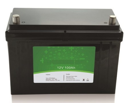 1280 Watts 12V 100Ah<br>EV LiFePO4 Lithium Battery Pack<br>12.5 * 6.5 * 8.4 in.<br>26 Lbs.