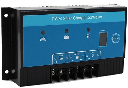 12V or 24V 10A PWM<br>For Lead Acid Battery Packs<br>Solar Charge Controller