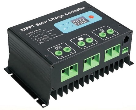 12V or 24V 20A MPPT <br> Solar Charge Controller <br> For Flooded, SLA, AGM, Gel, <br> and Lead Acid Battery Packs