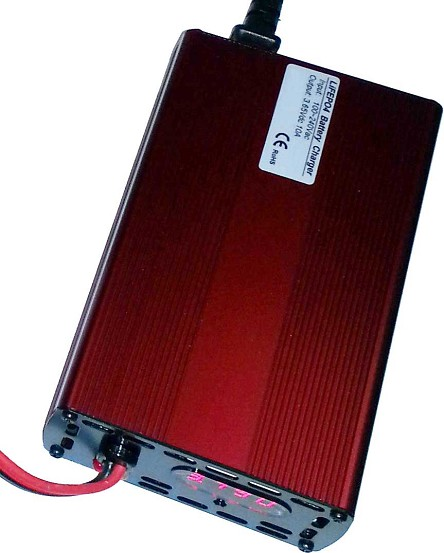 3V-3.2V-3.65V 10A<br>Lithium Battery Charger LiFePO4<br>CE Certified USA Stock!
