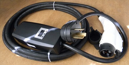 J1772 Portable EV Charger Plug<br>with Electrical Control Box<br>32A Level 2