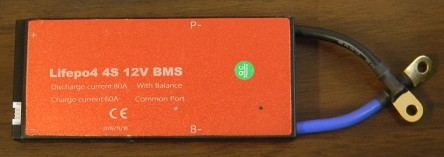 12V 80A EV BMS<br>For 4 Lithium LiFePO4 Battery Packs in Series (4S)<br>USA Stock!