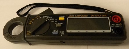 Clamp-on DC Amp Meter <br> Noninvasive, measure amps without breaking the surface. <br> $270 – Purchase price <br> <b> $40 plus postage </b> – Rent for two weeks