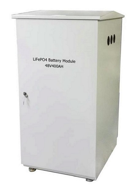 19kW 48V 400Ah <br> LiFePO4 Lithium Battery Pack <br> 31.5 * 23.6 * 47.2 in. <br> 800 * 600 * 1200 mm <br> 734 Lbs. / 333 Kg