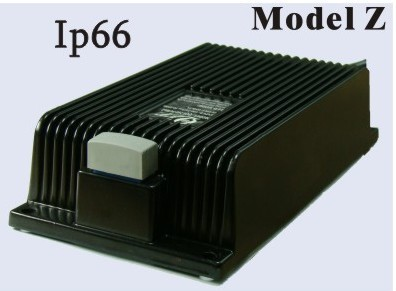 300 Watts 24V 10A, 36V 8A, 48V 6A<br>Model Z Lithium or Lead-Acid Battery Charger