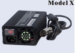 160 Watts 12V 8A, 24V 5A, 36V 4A, 48V 3A<br>Model X Lithium or Lead-Acid Battery Charger<br>100ea MOQ
