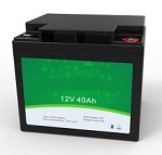 512 Watts 12V 40Ah <br> EV LiFePO4 Lithium Battery Pack <br> 7.7 * 6.5 * 6.8 in <br> 196 * 165 * 174 mm <br> 14.4 Lbs. / 6.55 Kg <br> Can be connected in series up to 48 volts.